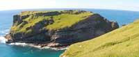 The island on which Tintagel Castle is perched