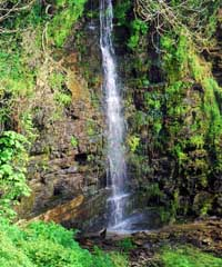 Waterfall at the Prince of Wales Quarry near Trewarmett in North Cornwall