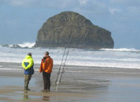 Beachcasting on Trebarwith