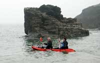 Sea Kayaking at Tintagel Haven