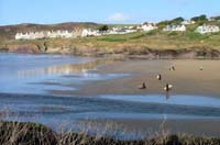 The beach at Polzeath in North Cornwall