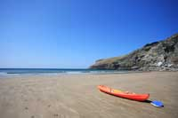 Kayaking at Trebarwith Strand