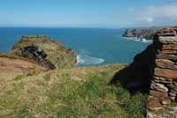 View from Willapark headland in Tintagel